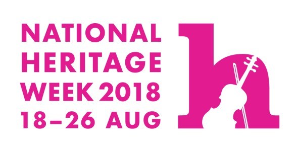 Heritage Week 2018 logo with dates