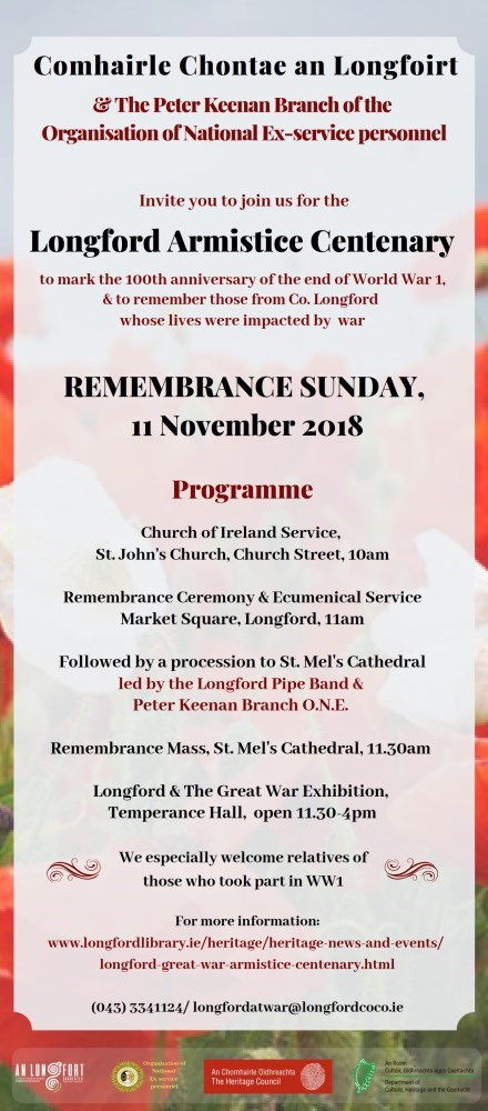 Remembrance Sunday 2018 invite