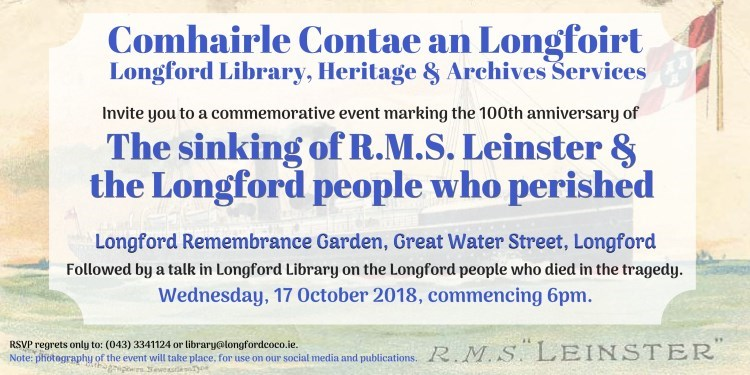 Invite to RMS Leinster centenary