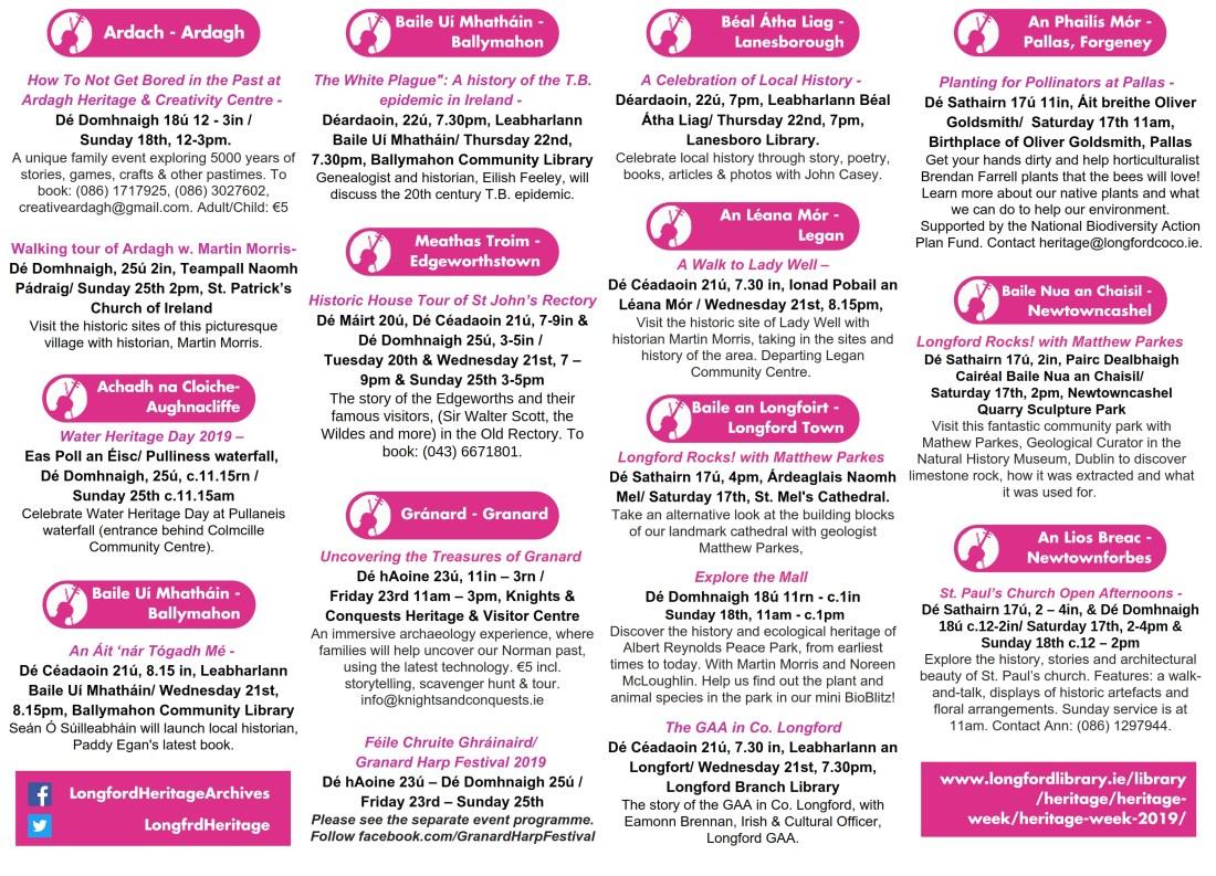 Heritage Week in Longford - Longford
